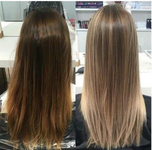 Русый цвет окрашивания хной на длинные волосы