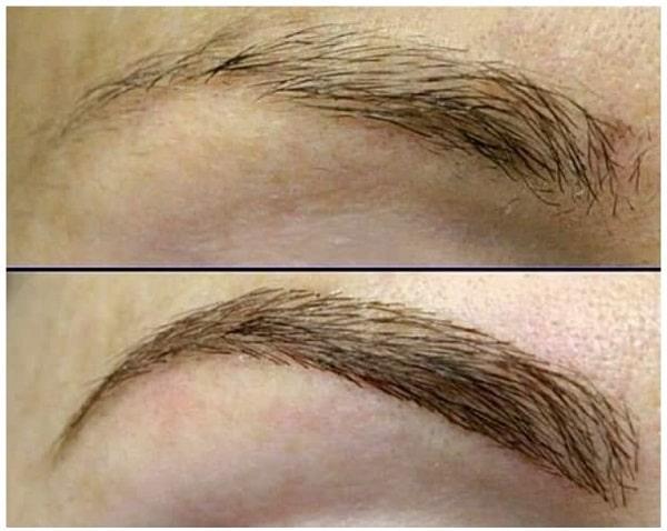 татуаж бровей растушевка фото до и после акварельная