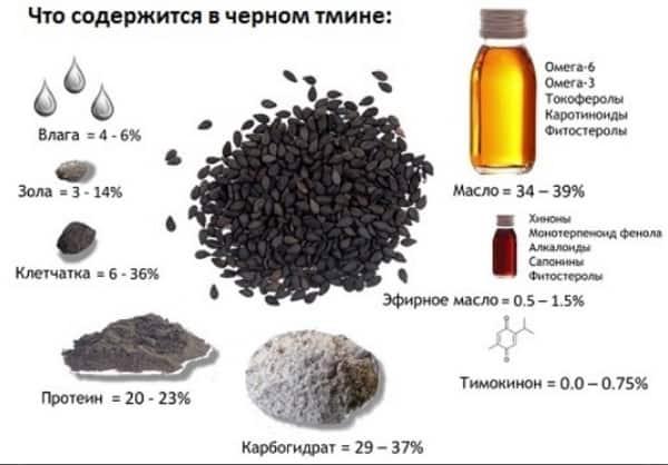 Состав черного тмина инфографика