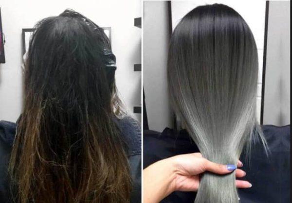 Тонирование волос в пепельный