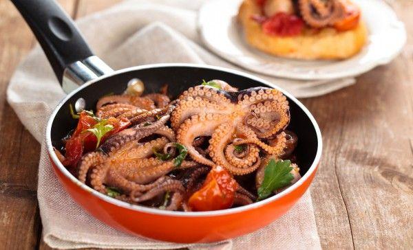 Как приготовить осьминога на сковороде
