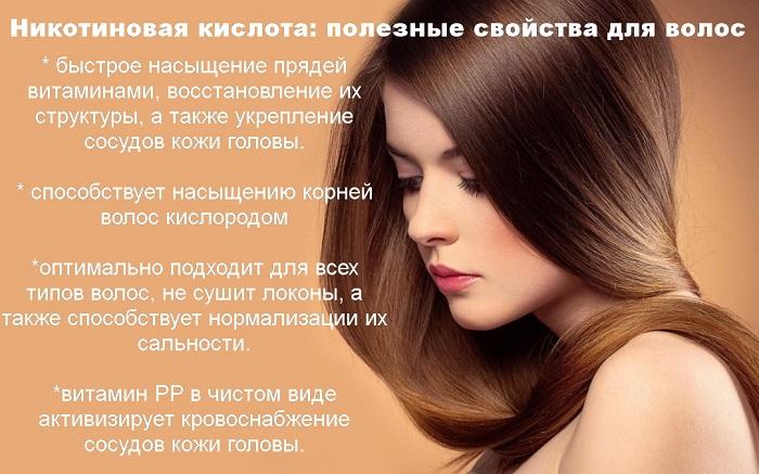 Никотиновая кислота для волос: полезные свойства