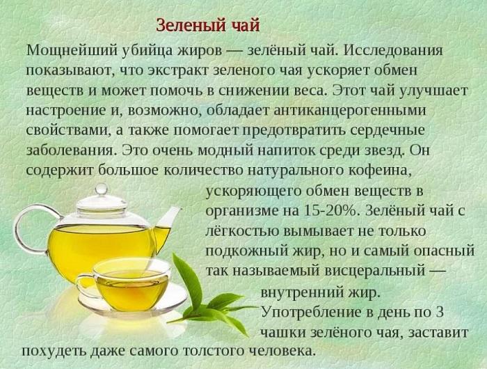 Описание полезных свойств зеленого чая