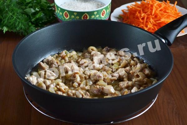 Плов с курицей: рецепт с фото пошагово