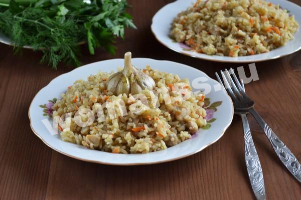 Плов с курицей на сковороде: рецепт с фото пошагово