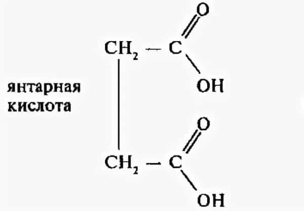Янтарная кислота: показания