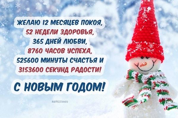 Поздравления с Новым годом короткие своими словами