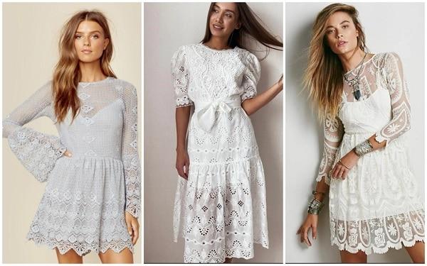 Белое платье - новинка 2021 года
